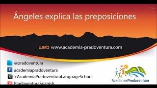 Las preposiciones + verbos de movimiento
