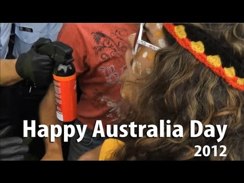 Happy Australia Day 2012 - celebrate with pepper spray