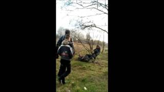 Побил бомжа хD