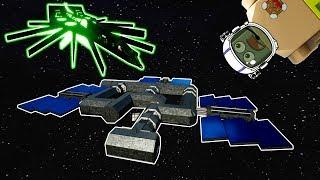 Alien Battlecruiser DESTROYS Space Station! - Brick Rigs Lego Gameplay