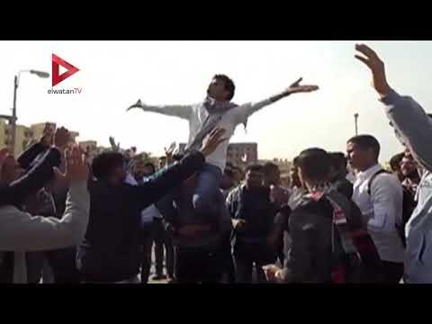 طلاب وقيادات جامعة الفيوم يحتجون على قرار