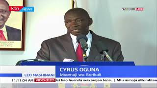 Cyrus Oguna: Government has put in place measures to combat locusts and will not relent