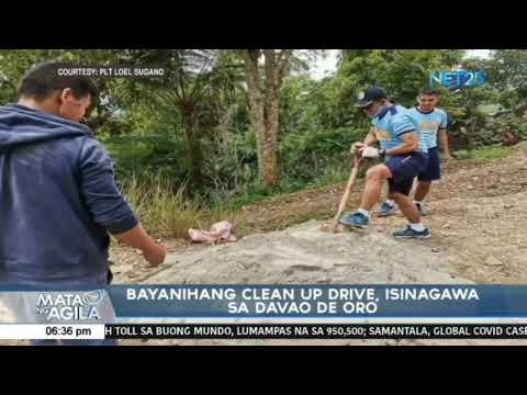 [EagleNewsPH]  Bayanihang clean up drive, isinagawa sa Davao de Oro