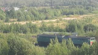 Тепловоз 2ТЭ10МК-3106 заходит на станцию Архангельск