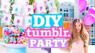 DIY Tumblr Birthday Party! Cute Decor, Snacks & Outfit Ideas! | MissTiffanyMa
