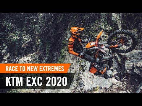 La gamme KTM enduro 2020 en action