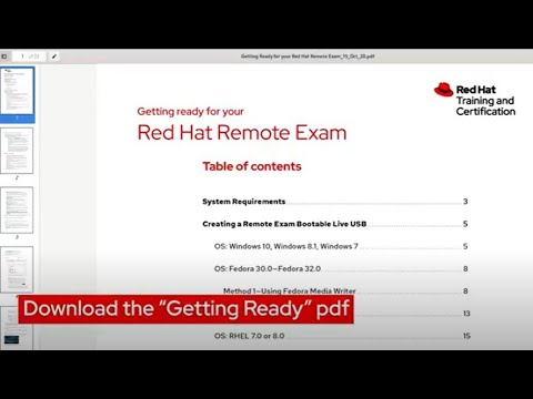 How to Take a Red Hat Remote Exam - YouTube