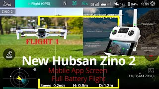 New Hubsan Zino 2 Over Park on Hot Sunny Day, Mobile App Screen Recording (Flight 1)