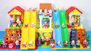 Peppa Pig Lego House With Water Slide Toys - Lego House Creations Toys For Kids #4