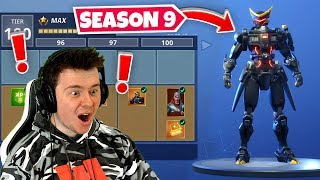 *NEW* SEASON 9 BATTLE PASS (100% Unlocked)