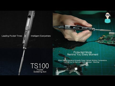 MINI TS100 Digital OLED Soldering Iron Unboxing And Review