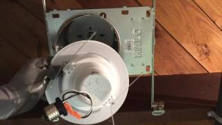 FEIT LED Retrofit Kit Installation in Halo Recessed Cans