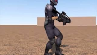 Учусь анимации персонажей 2 (3ds max, bones)