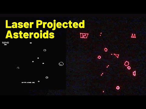 Laser Galvos and an ESP32 Recreate Old-School Asteroids