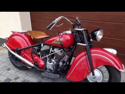 Vintage 1948 Indian Chief Motorcycle