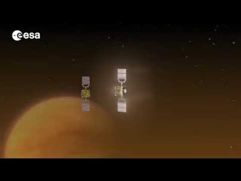 Venus Express aerobraking video