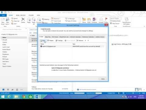 Cara Setting Email Client Microsoft Outlook 2013