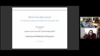 "Erin Hartman, ""What's the Alternative? An Equivalence Approach to Balance and Placebo Tests"""