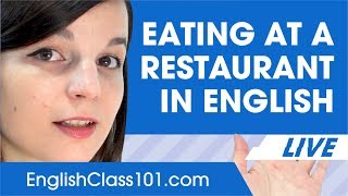 How to Order Food at a Restaurant in English - Basic English Phrases