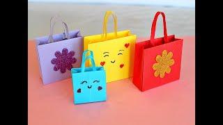 Оригами. ПАКЕТ из бумаги ДЛЯ ПОДАРКА .DIY BOLSAS de papel para regalo. PAPER BAG ORIGAMI