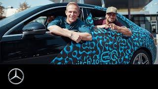 JP Kraemer und Matthias Malmedie unterwegs mit der A-Klasse Limousine Plug-in Hybrid