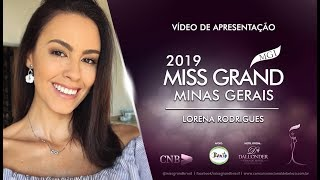 Lorena Rodrigues Miss Grand Minas Gerais 2019 Presentation Video