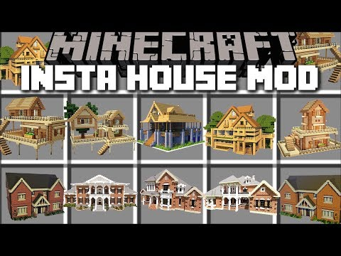 Minecraft INSTANT HOUSE MOD / BUILD INSTANT STRUCTURES IN SECONDS!! Minecraft