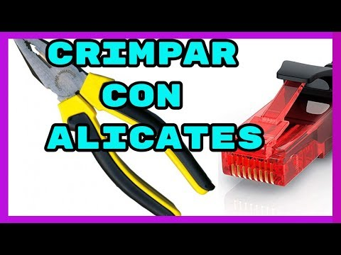 COMO Crimpar RJ45 con ALICATES / cabo de red ETHERNET