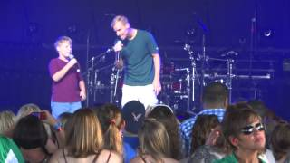 Brian Littrell & his son Baylee - live at Riverbend music center June 15, 2014