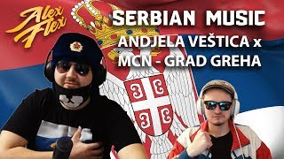 ANDJELA VEŠTICA X MCN   GRAD GREHA | RUSSIAN REACTION TO SERBIAN MUSIC