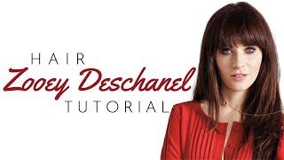 Zooey Deschanel Bangs Tutorial - TheSalonGuy