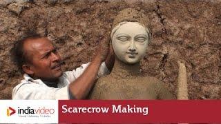 Scarecrow making in Taregna village, Patna