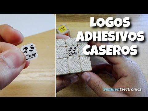 Como hacer logos adhesivos transparentes muy fácil