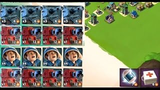 SCORCHER VS SNIPER TOWER  Boom Beach  MEDIC AND TANK