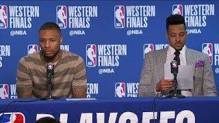 Damian Lillard & CJ McCollum Postgame Interview - Game 2 | Blazers vs Warriors | 2019 NBA Playoffs