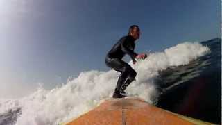 preview picture of video 'GOPRO Surf longboard 13/03/2012'