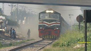 Pakistan Railways | Fastest ZCU-30 6354 41Up Karakoram Express Fast pass Nishatabad | 20.11.2018 | Kholo.pk