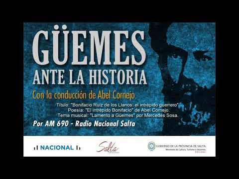 """Video: Güemes ante la historia. Dieciochoavo programa. """"Bonifacio Ruíz de los Llanos: el intrépido guerrero"""""""