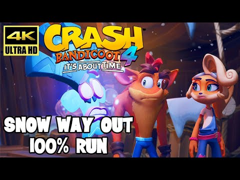 Crash Bandicoot 4: It's About Time – SNOW WAY OUT 100% Run (PS4 Pro) @ ᵁᴴᴰ 60ᶠᵖˢ ✔