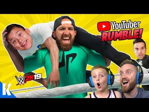 YouTubers Royal Rumble! (DUDE PERFECT, EVANTUBEHD and CHRIS DENKER) in WWE 2k19! KIDCITY GAMING