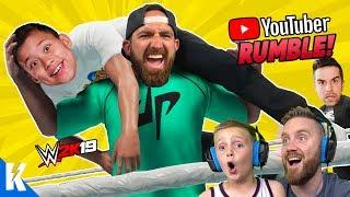 YouTubers Royal Rumble! (DUDE PERFECT, EVANTUBEHD and CHRIS DENKER) in WWE 2k19! K-City GAMING