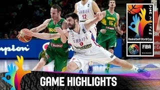 Serbia v Brazil - Game Highlights - Quarter Final - 2014 FIBA Basketball World Cup