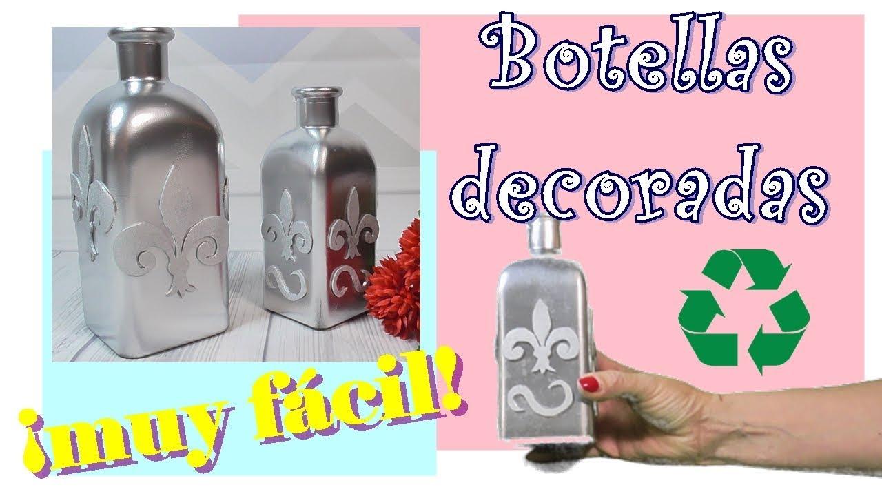 Decoración de botella de cristal con Foamy - Gomaeva. Fácil y Rápido
