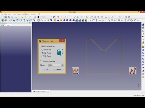 FreeCAD: Sketcher | Symmetry Tutorial - 1 - смотреть онлайн