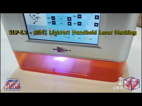 Worlds Lightest Industrial Handheld Laser Marking Machine Model SLP - L3 (50x50 mm)