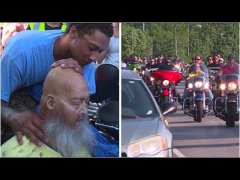 Hours After a Man's Dying Wish Was Posted Online, a Fleet of Bikers Turned up Outside His Door