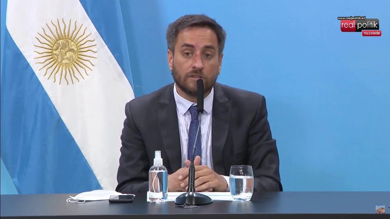 Incendios en El Bolsón: Conferencia de prensa del ministro de Ambiente, Juan Cabandié