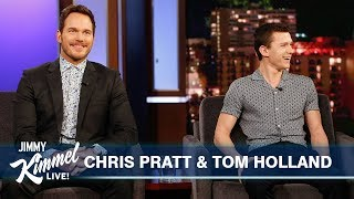 Tom Holland Surprises Chris Pratt