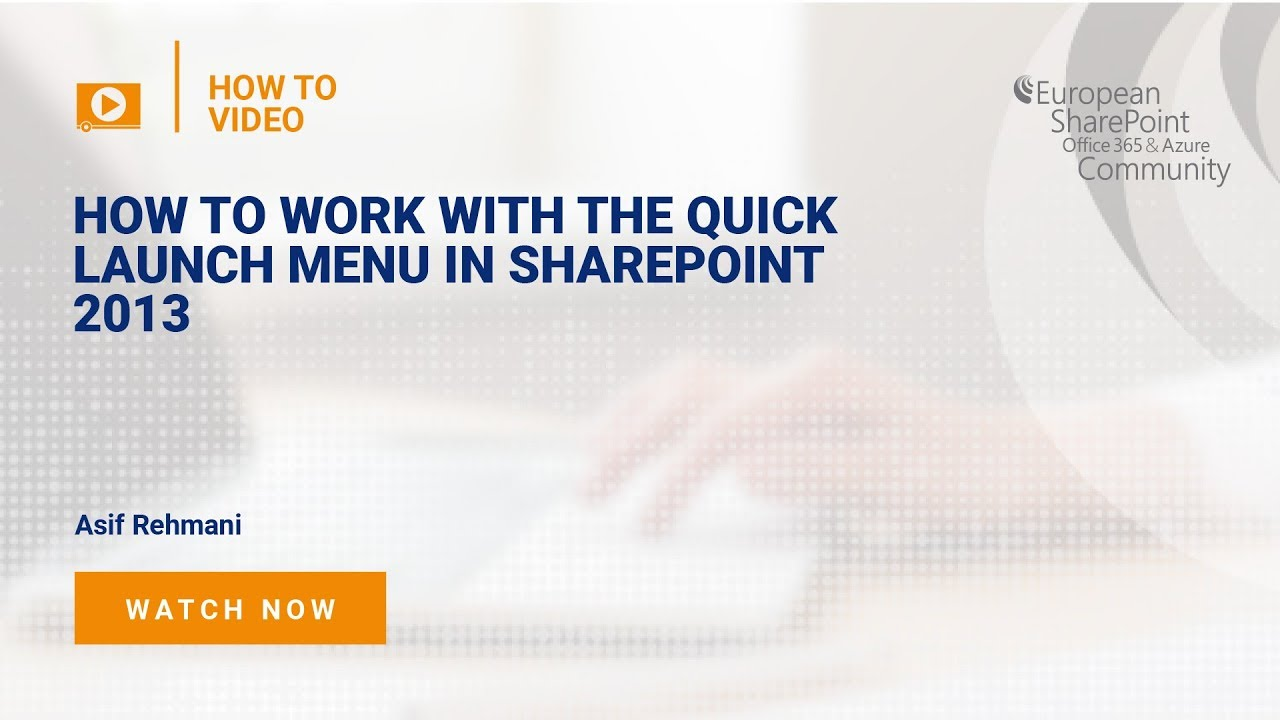 How To Customize The Quick Launch Menu In SharePoint 2016