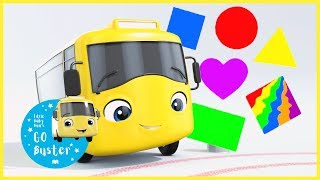 Learn Shapes with Buster! | Videos for Kids | GoBuster | Nursery Rhymes | Single | #LearnShapes